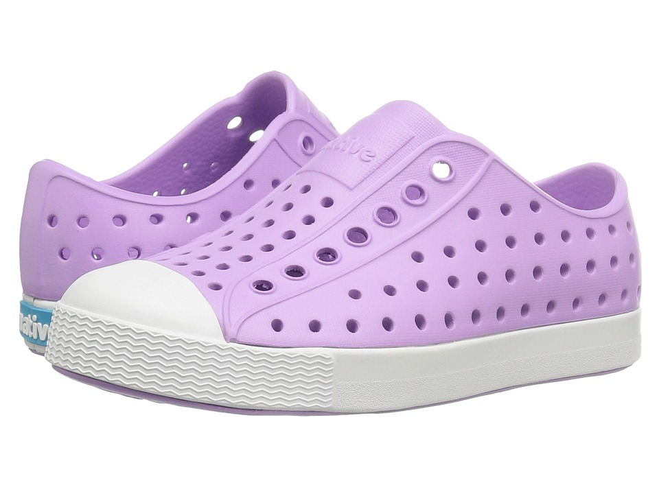 Native Kids Shoes - Jefferson (Toddler/Little Kid) (Lavender Purple/Shell White) Girls Shoes