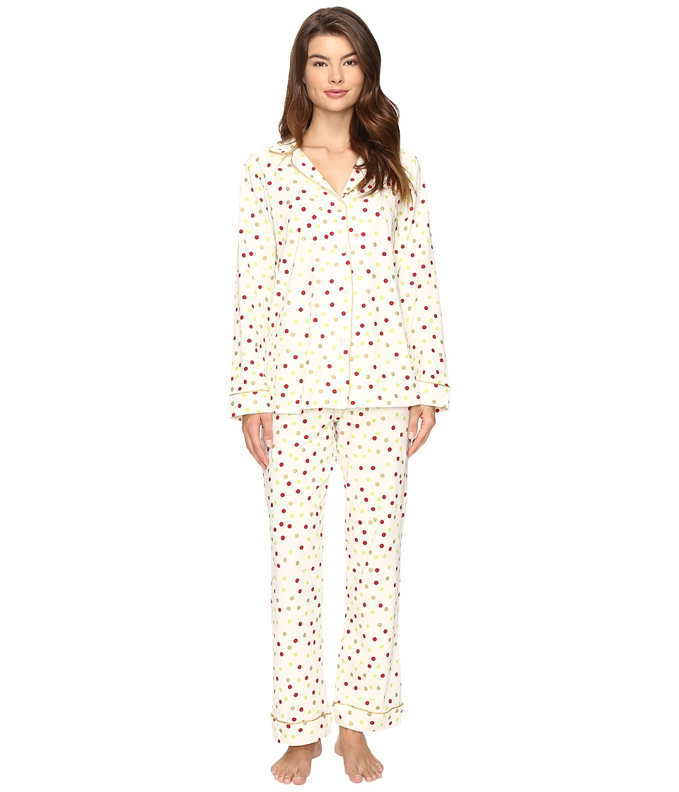 BedHead - Long Sleeve Classic Pajama Set (Holiday Dot) Women's Pajama Sets