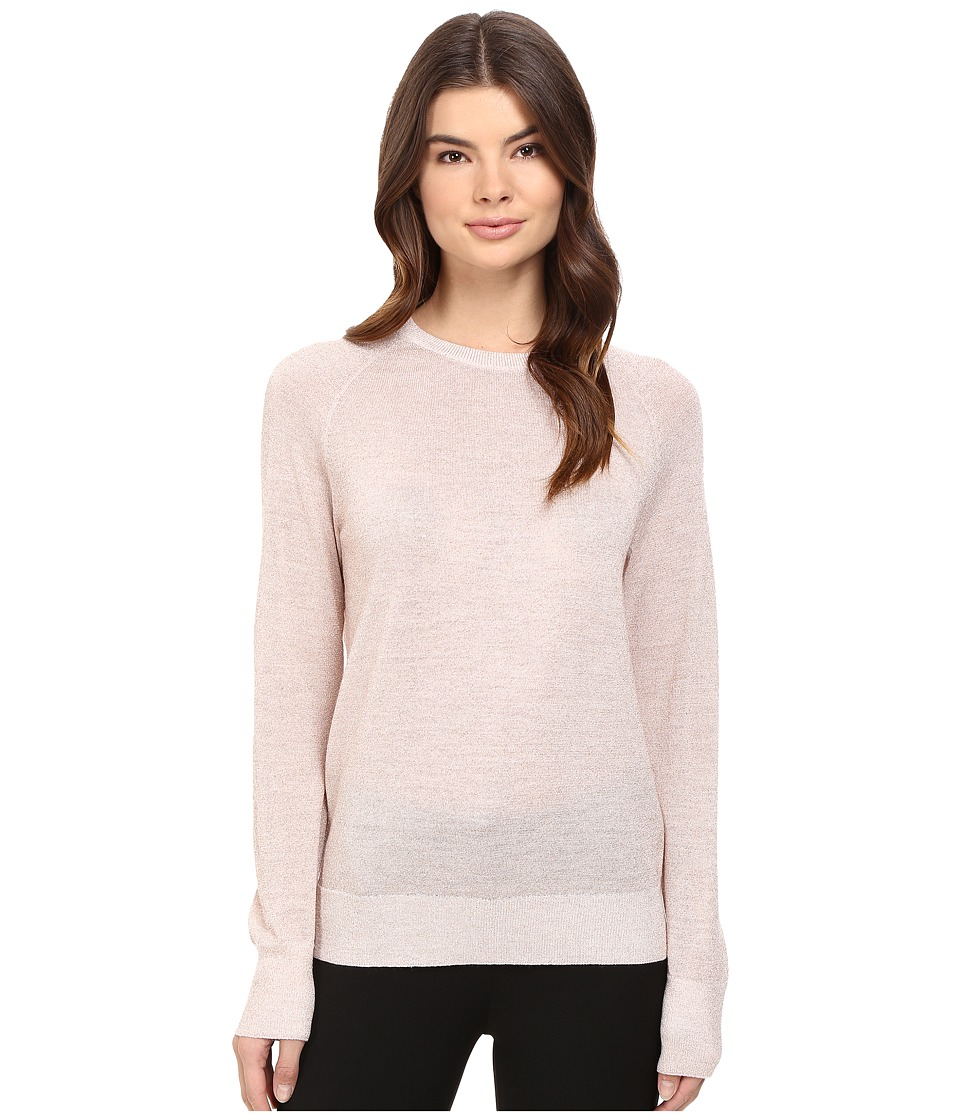 EQUIPMENT - Sloane Crew Sweater (Ivory/Pink Lurex) Women's Sweater