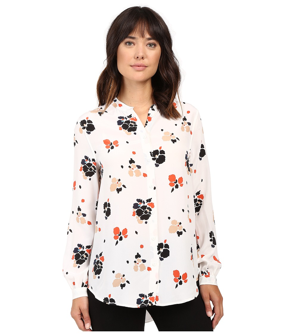 EQUIPMENT - Henri Blouse (Bright White/Multi) Women's Blouse