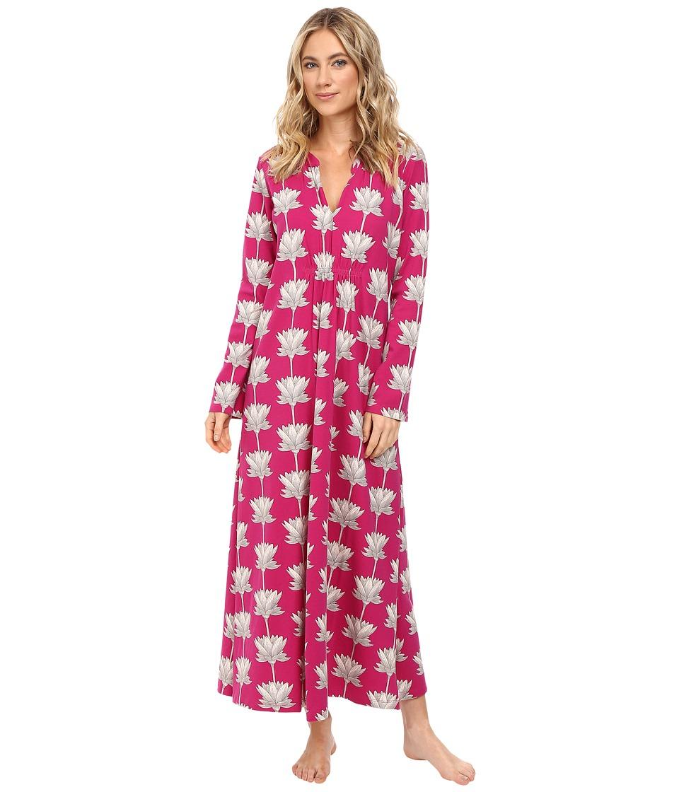BedHead - Long Sleeve Long Gown (Lotusland) Women's Pajama