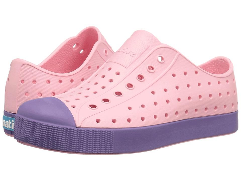 Native Kids Shoes - Jefferson (Little Kid) (Princess Pink/Haze Purple) Girls Shoes