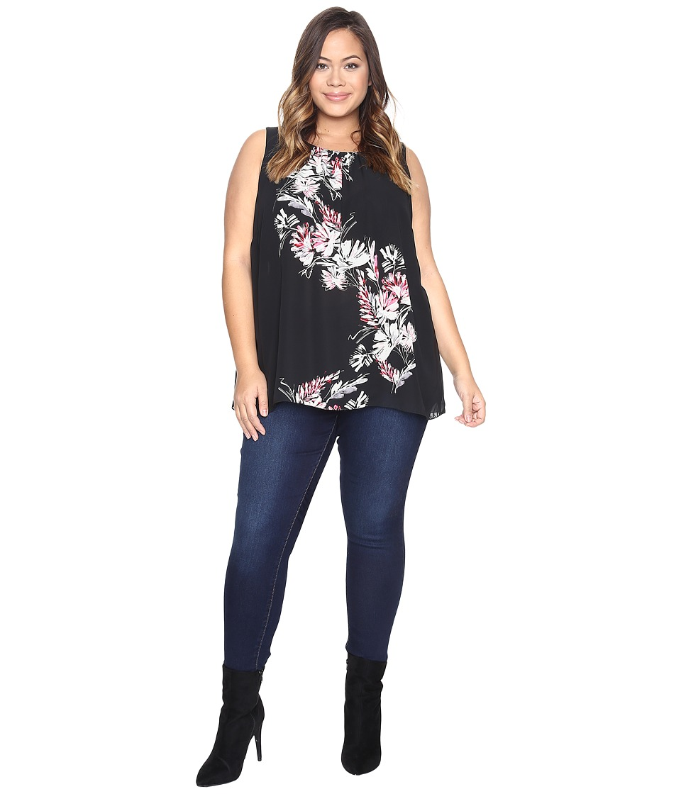Vince Camuto Specialty Size - Plus Size Sleeveless Winter Gerland Blouse (Rich Black) Women's Clothing
