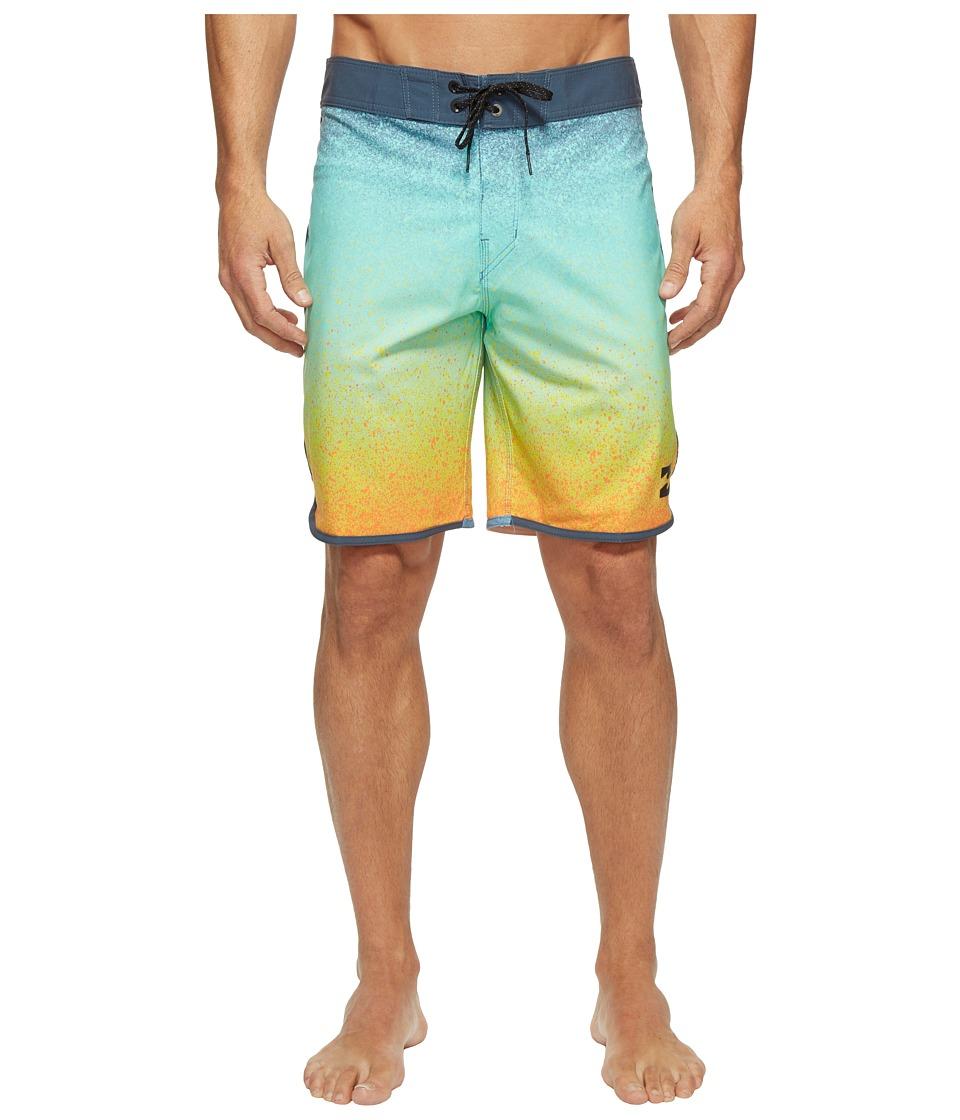 Billabong - 73 X Line Up Boardshorts (Orange) Men's Swimwear