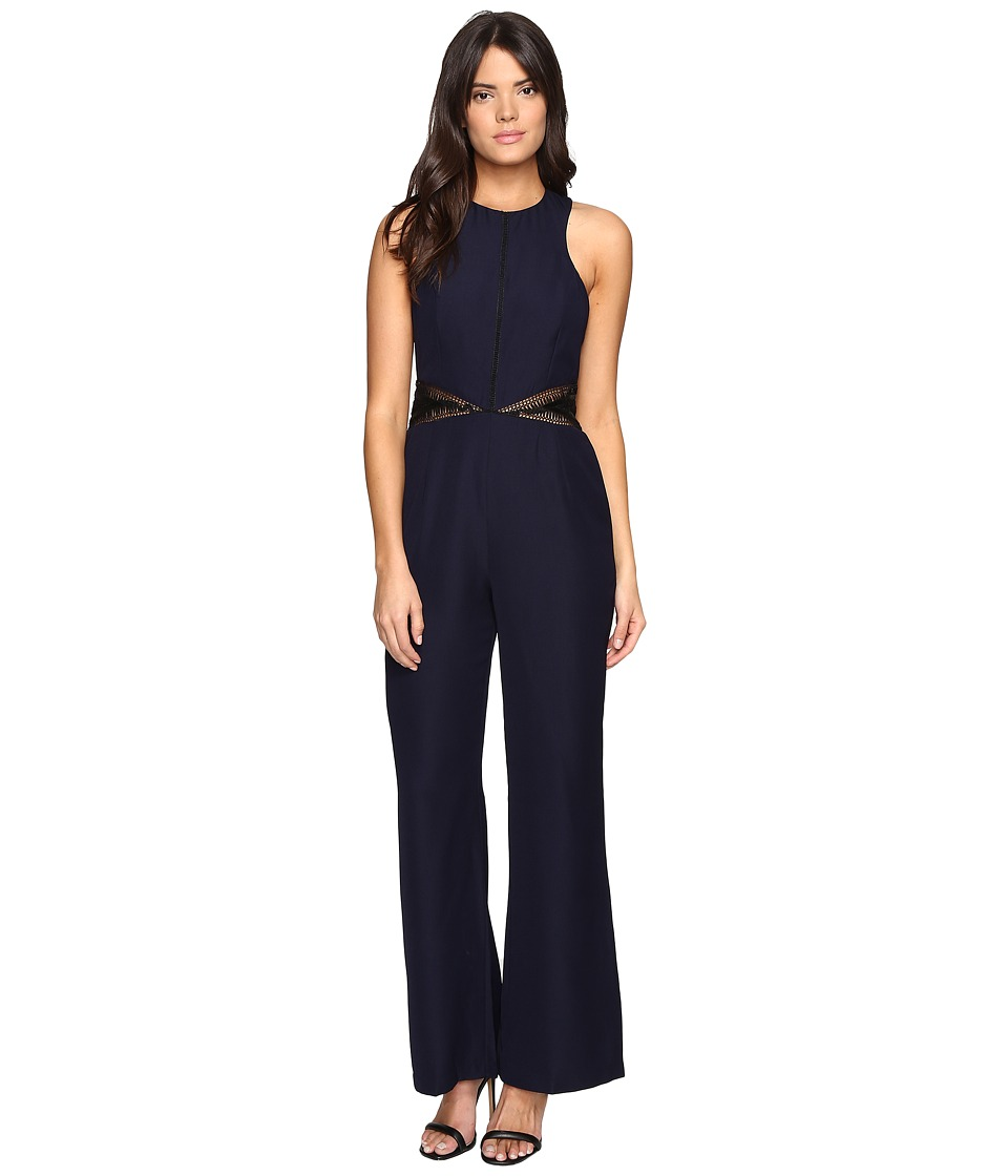 Adelyn Rae - Wide Leg Jumpsuit (Navy/Black) Women's Jumpsuit & Rompers One Piece