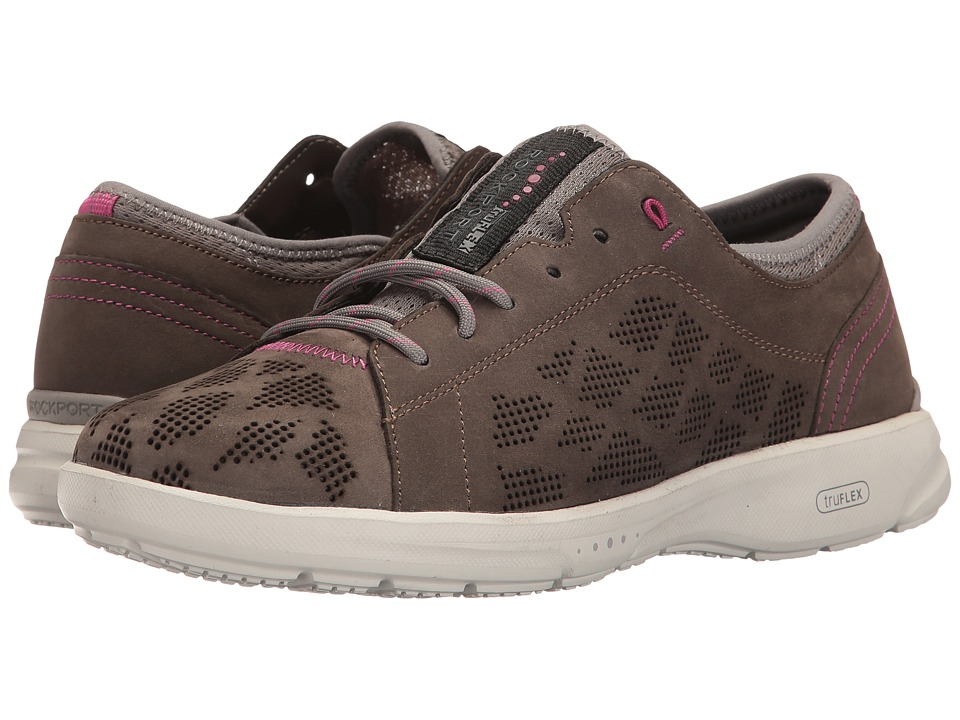 Rockport - TruFlex Lace to Toe (Dark Stone) Women's Shoes