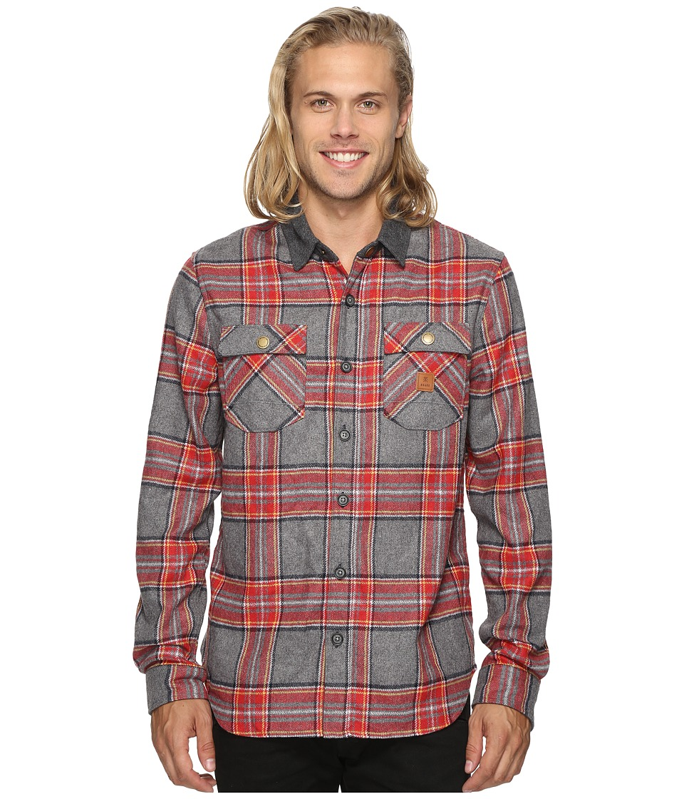 Roark - Nordsman Flannel Long Sleeve Shirt (Heather Grey) Men's Clothing
