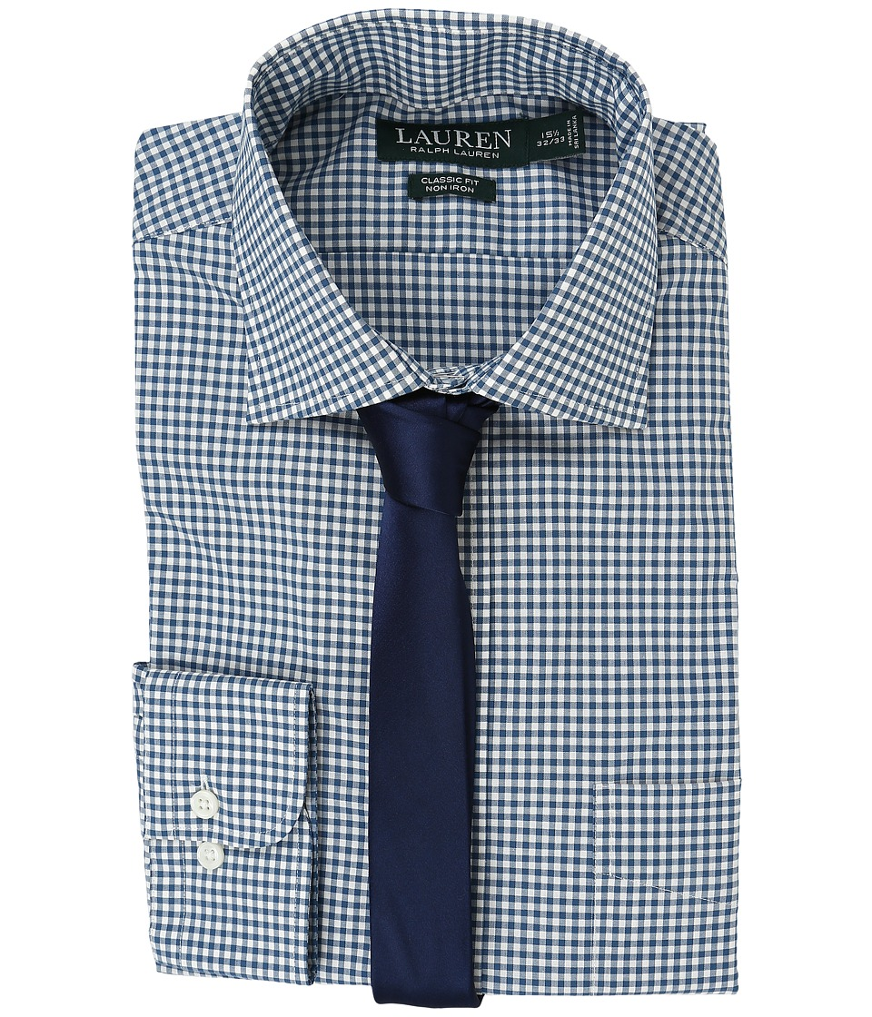 LAUREN Ralph Lauren - Poplin Checks (Blue/Cream) Men's Clothing