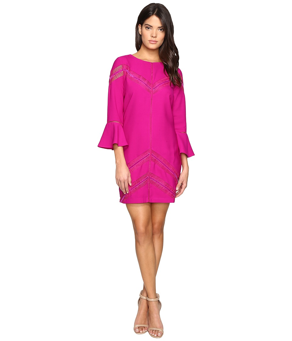 Adelyn Rae - Shirtdress with Bell Sleeve (Magenta) Women's Dress