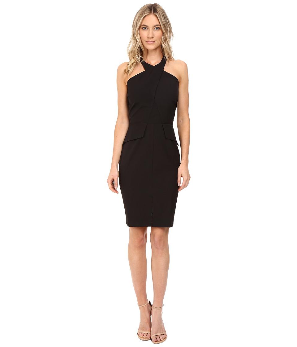 Adelyn Rae - Halter Fitted Dress (Black 1) Women's Dress