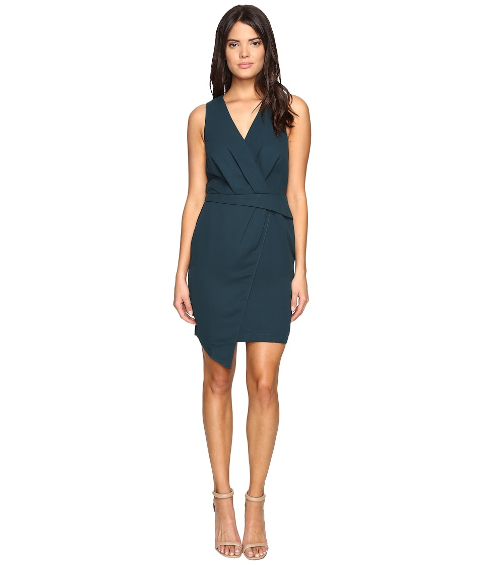 Adelyn Rae - Sheath Dress Asymmetrical Hem (Green) Women's Dress