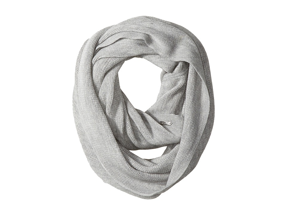 Calvin Klein - Textured Stripe Infinity Scarf (Heathered Mid Grey) Scarves
