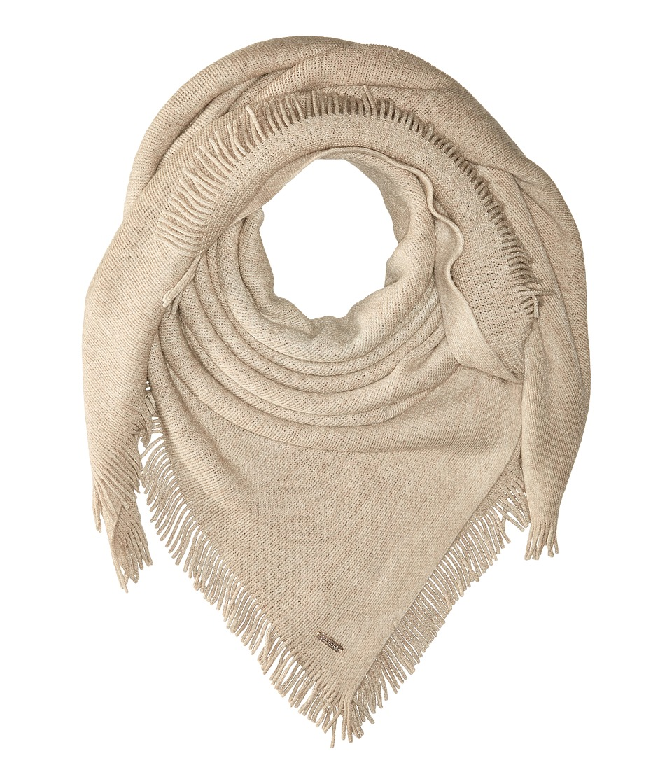 Calvin Klein - Cashmere-Like Acrylic Square Scarf (Heathered Almond) Scarves