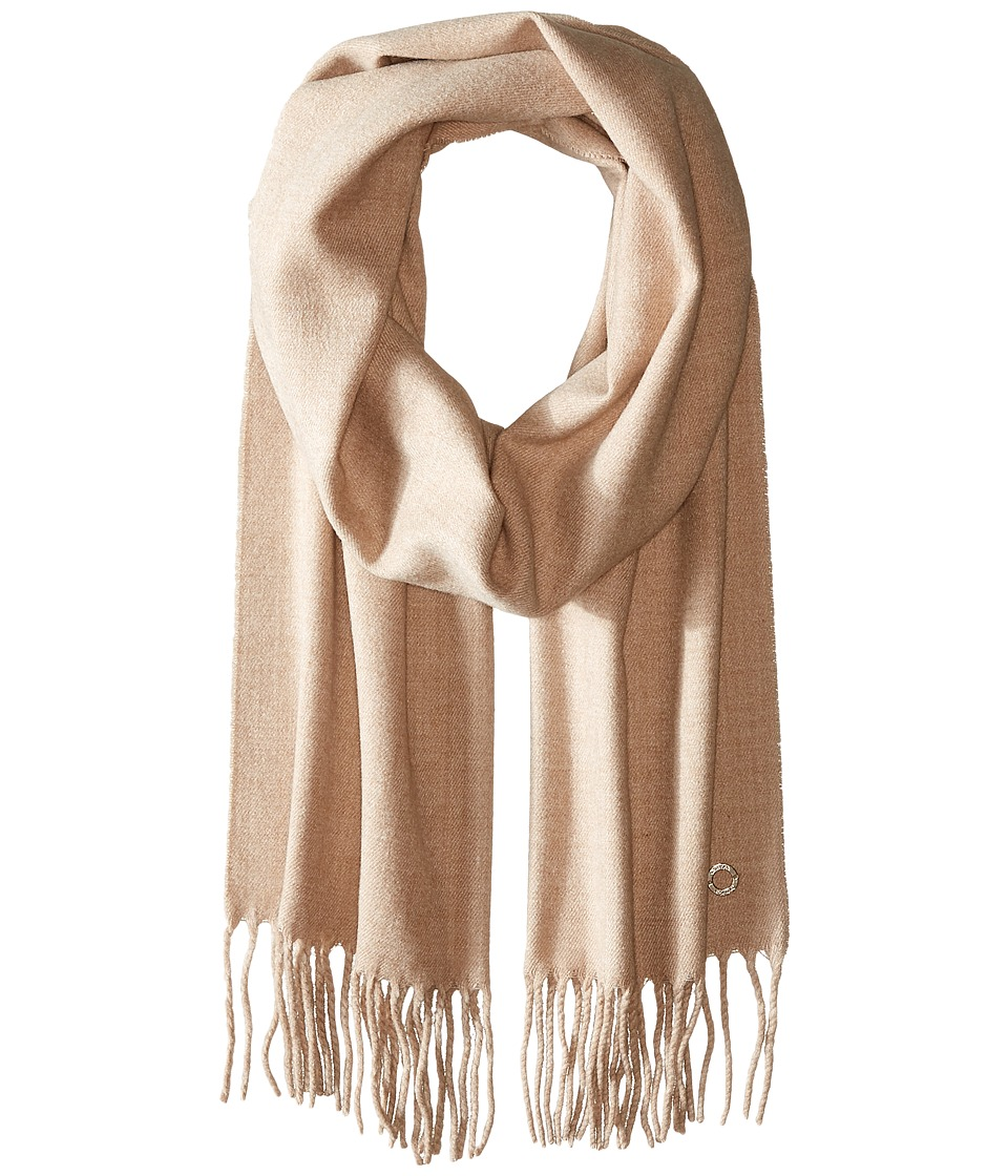 Calvin Klein - Solid Woven Scarf (Heathered Almond) Scarves