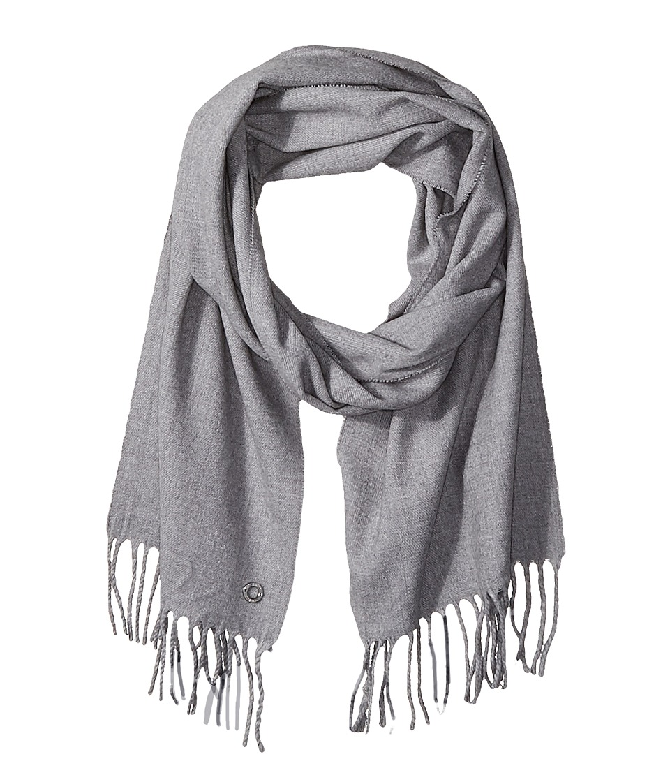 Calvin Klein - Solid Woven Scarf (Heathered Mid Grey) Scarves