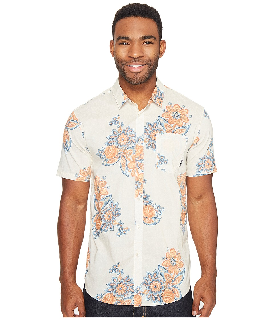 Billabong - Tropics Short Sleeve Woven Top (Bone) Men's Clothing