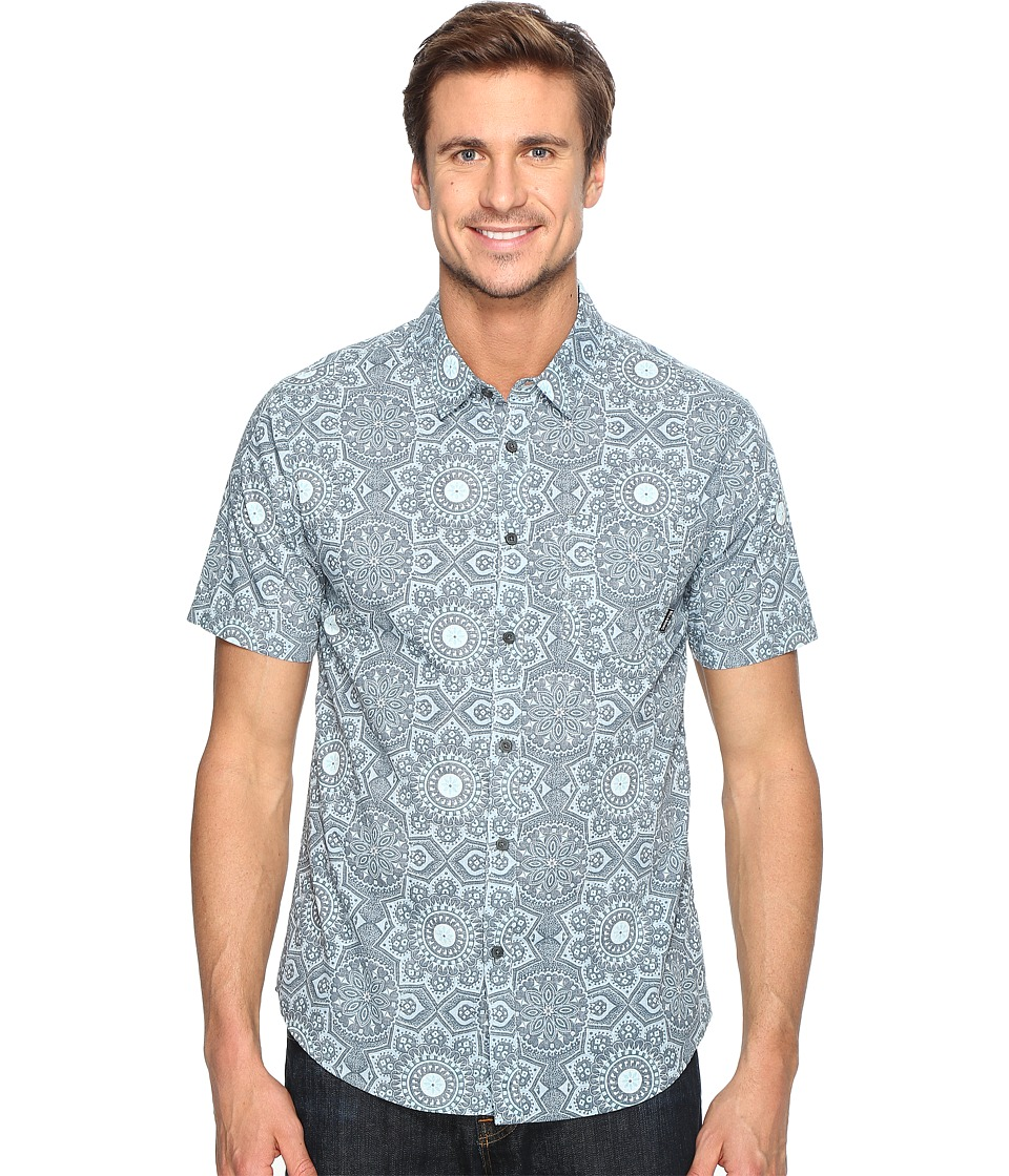 Billabong - Tropics Short Sleeve Woven Top (Dark Blue) Men's Clothing