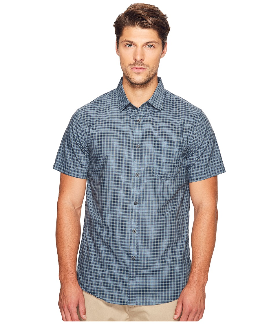 Billabong - Lennox Woven Top (Slate) Men's Clothing