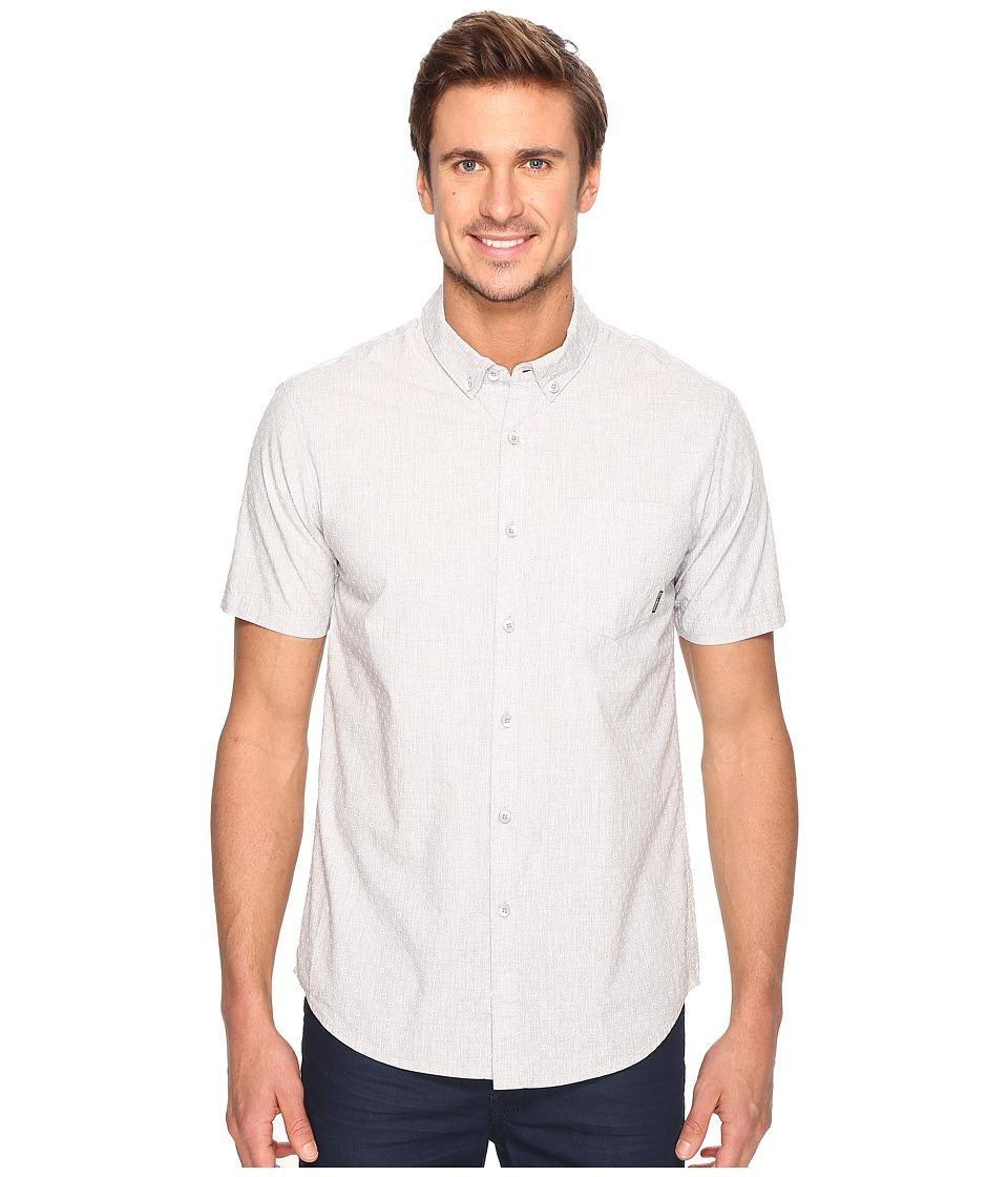 Billabong - Marker Short Sleeve Woven Top (Light Grey Heather) Men's Clothing