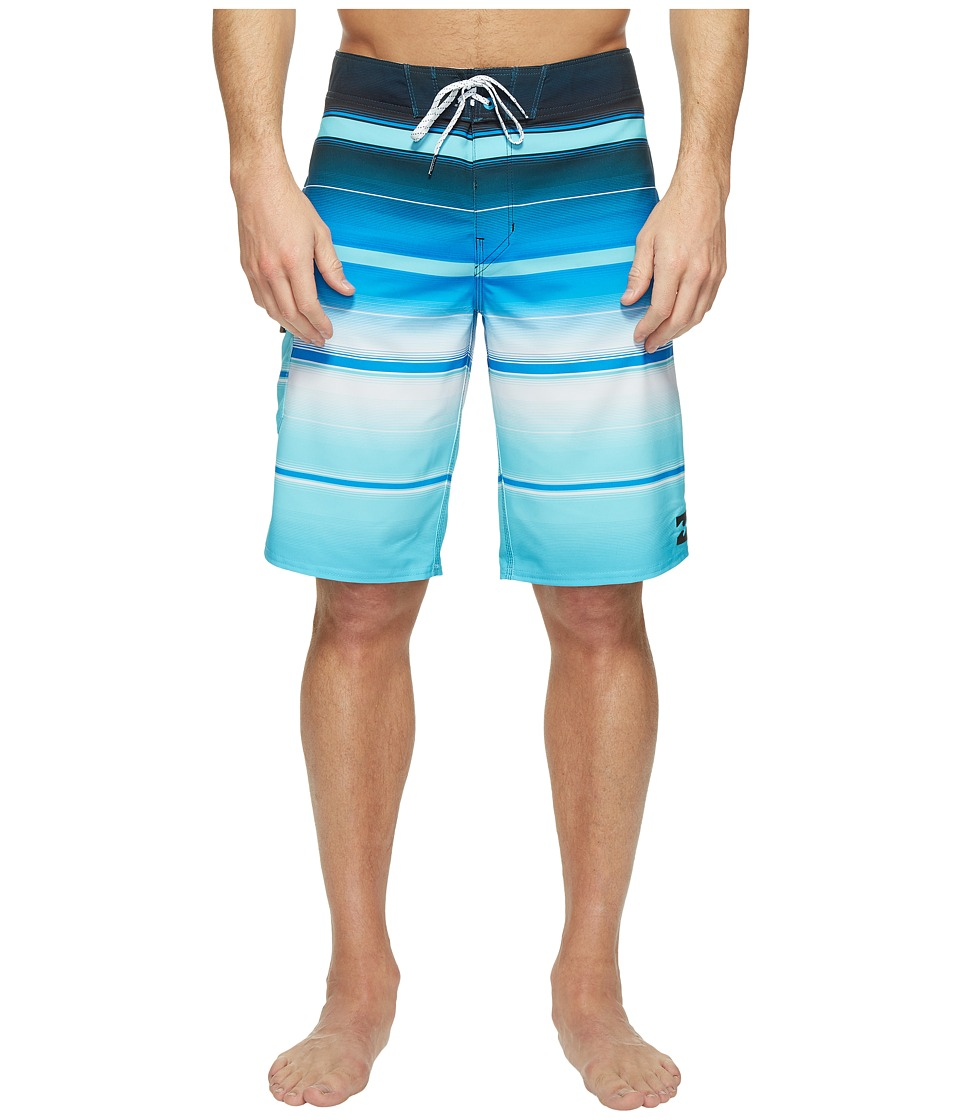 Billabong - All Day X Stripe Boardshorts (Blue) Men's Swimwear