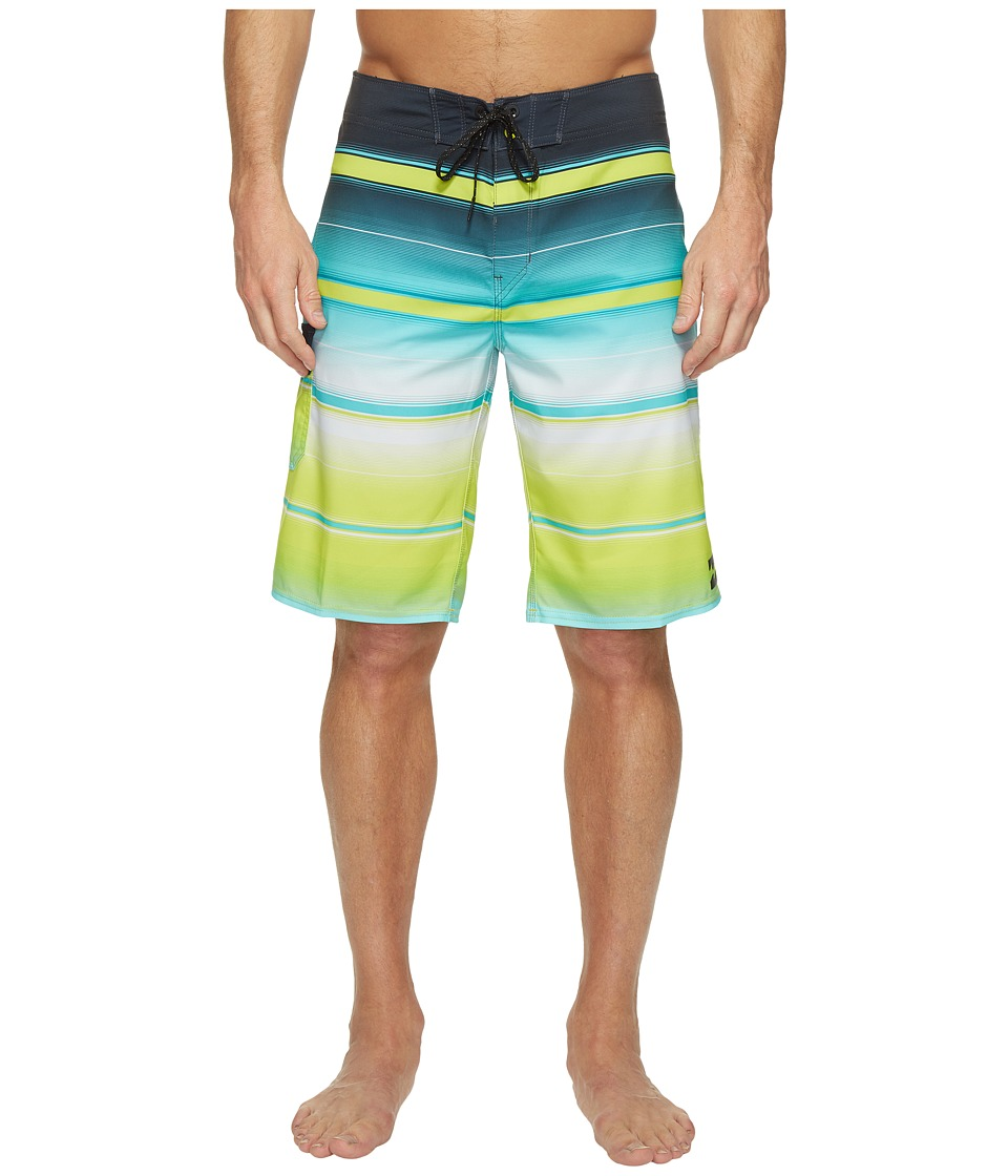 Billabong - All Day X Stripe Boardshorts (Lime) Men's Swimwear