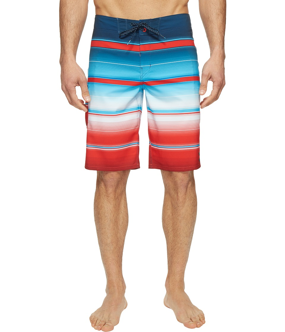 Billabong - All Day X Stripe Boardshorts (Red) Men's Swimwear