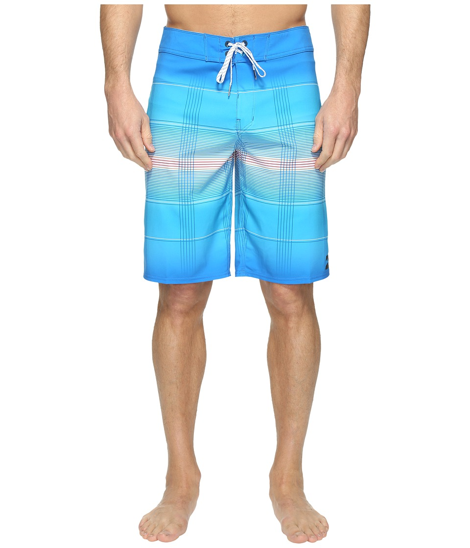 Billabong - All Day X Plaid Boardshorts (Blue) Men's Swimwear