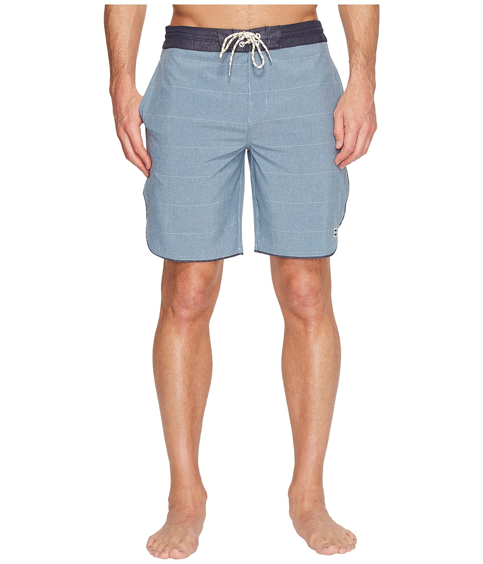Billabong - 73 Lo Tide Boardshorts (Blue) Men's Swimwear