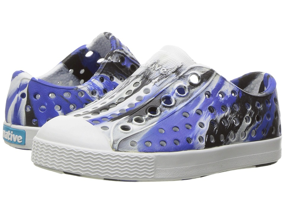 Native Kids Shoes - Jefferson Marbled (Toddler/Little Kid) (UV Jiffy/Shell White/Marbled) Girls Shoes