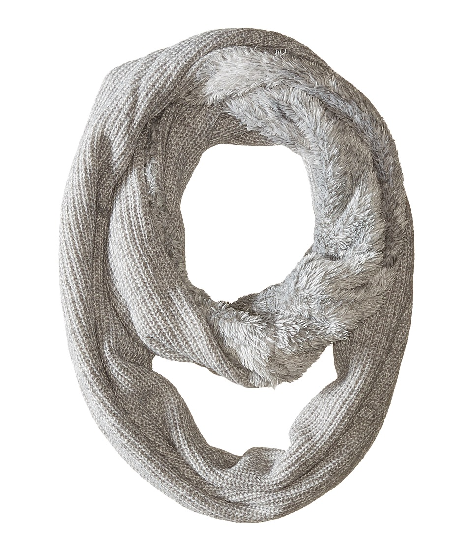 Calvin Klein - Shaker Stitch Infinity Scarf (Heathered Mid Grey) Scarves