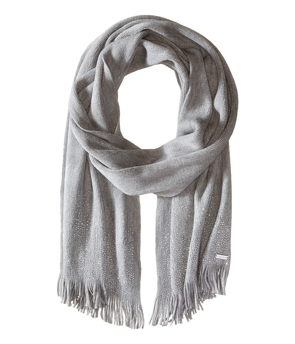 Calvin Klein - Scarf Studded (Heathered Mid Grey) Scarves