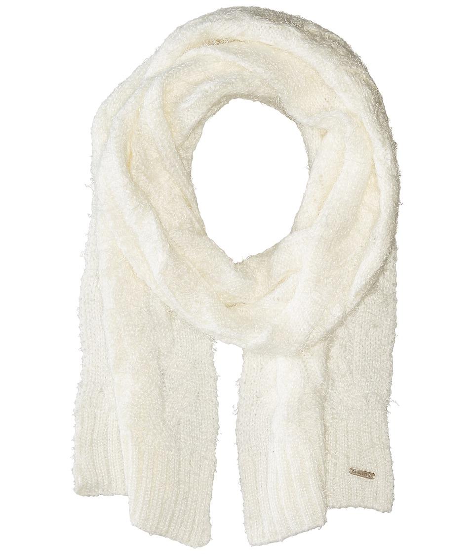 Calvin Klein - Fuzzy Cable Scarf (Cream) Scarves