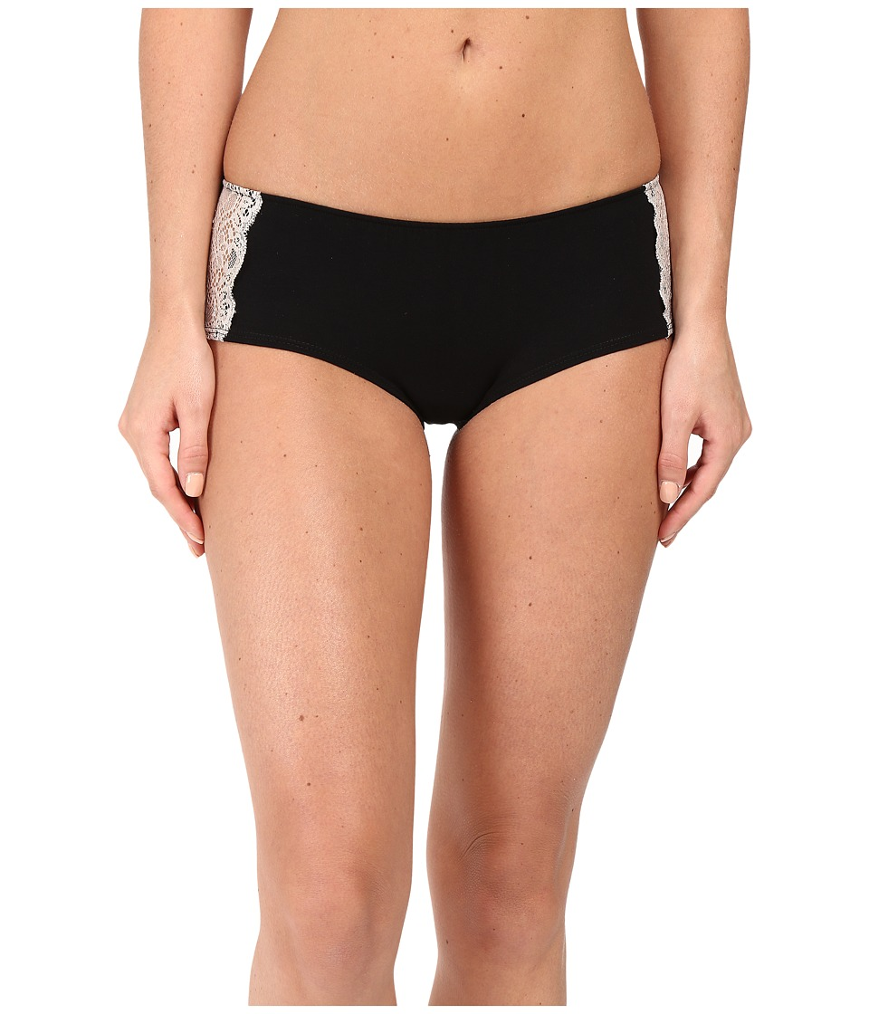 Only Hearts - So Fine w/ Lace Ruched Back Hipster (Black/Vintage) Women's Underwear