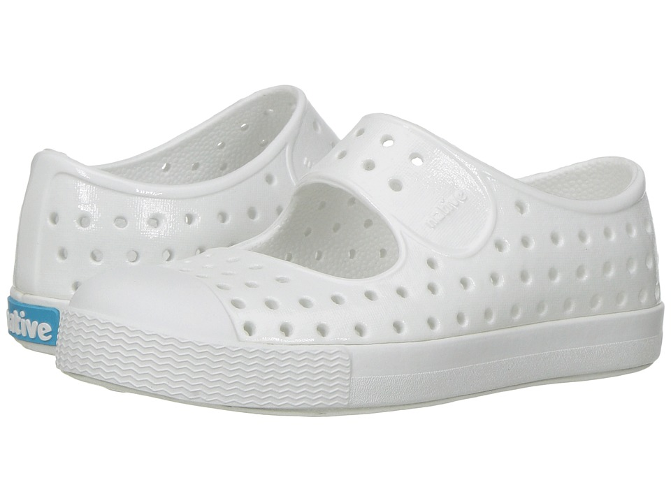 Native Kids Shoes Juniper Mary Jane Gloss (Toddler/Little Kid) (Shell White/Shell White/Gloss) Girls Shoes