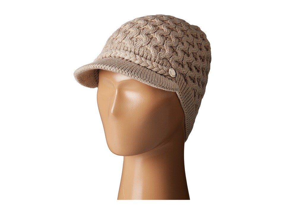 Calvin Klein - Honeycomb Cable Cabbie (Heathered Almond) Knit Hats