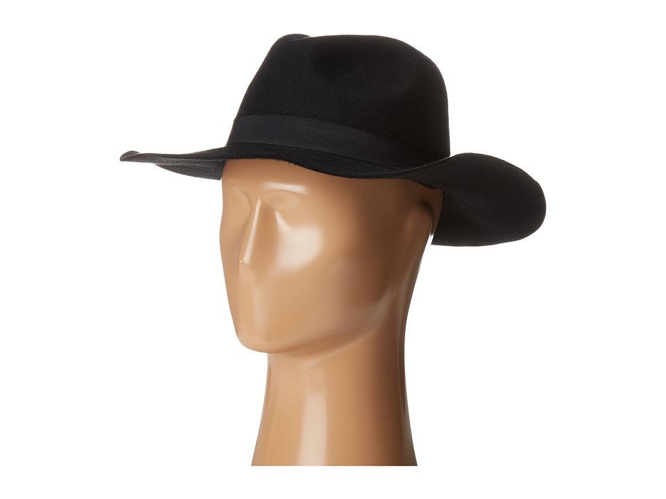 Calvin Klein - Patch Wool Felt Panama (Black) Knit Hats