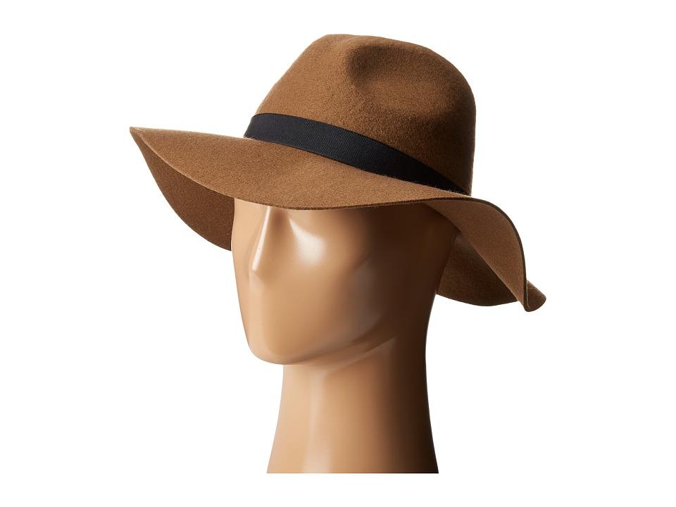 Calvin Klein - Patch Wool Felt Panama (Pecan) Knit Hats