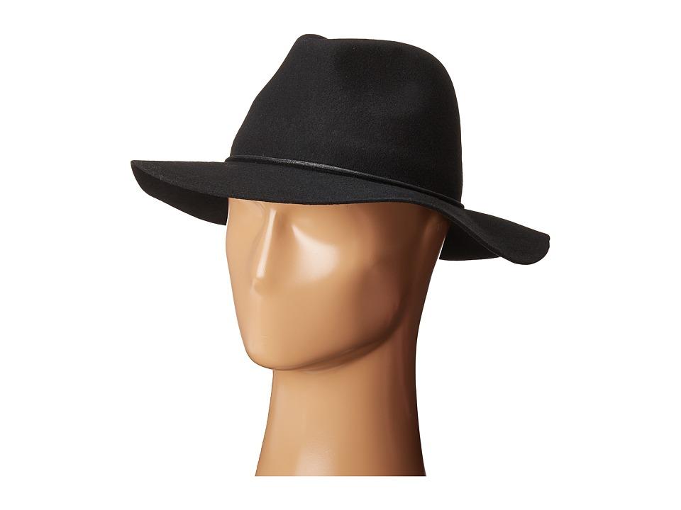 Calvin Klein - Linked Chord Wool Panama (Black) Knit Hats