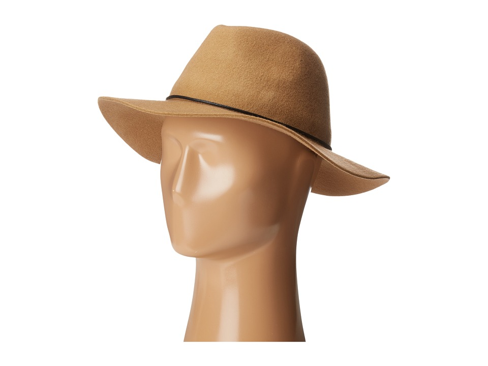 Calvin Klein - Linked Chord Wool Panama (Heathered Mid Grey) Knit Hats