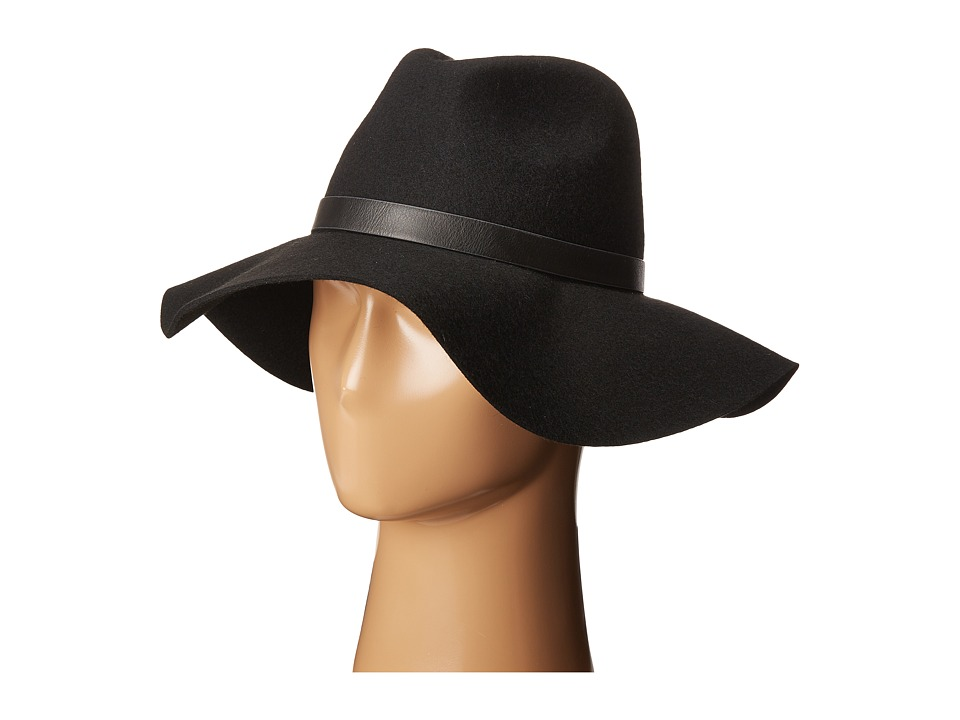 Calvin Klein - Logo Buckle Flopply Panama (Black) Knit Hats