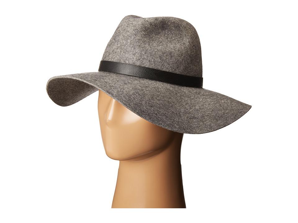 Calvin Klein - Logo Buckle Flopply Panama (Heathered Mid Grey) Knit Hats