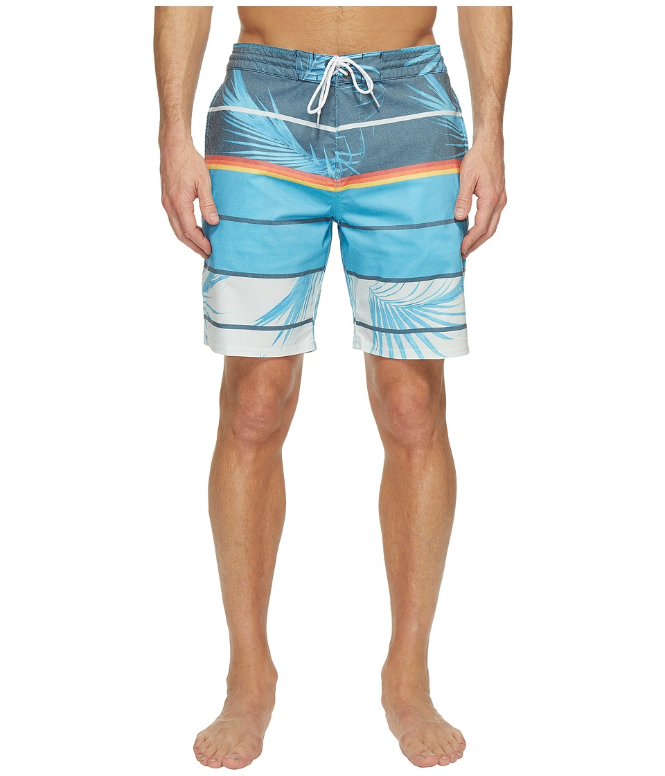 Billabong - Spinner Lo Tide Print Boardshorts (Blue) Men's Swimwear