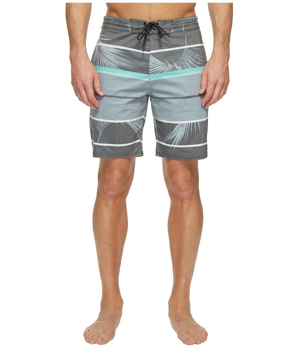 Billabong - Spinner Lo Tide Print Boardshorts (Grey) Men's Swimwear