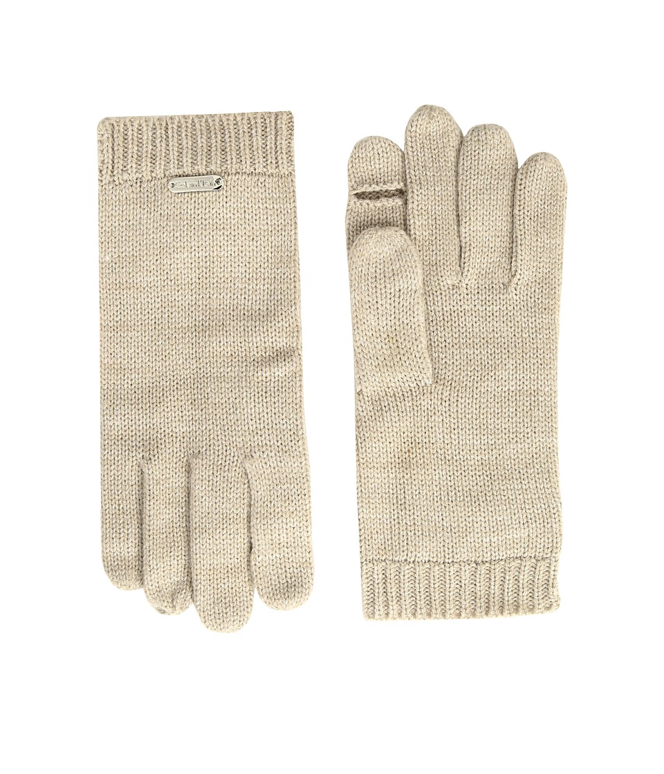 Calvin Klein - Keyhole Gloves (Heathered Almond) Extreme Cold Weather Gloves