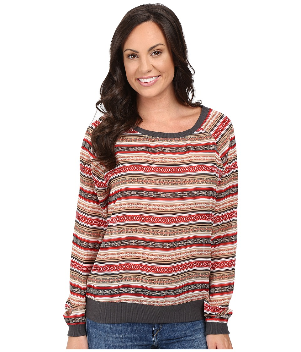 Cruel - Oversized Raglan Top Contrast (Multicolored) Women's Clothing