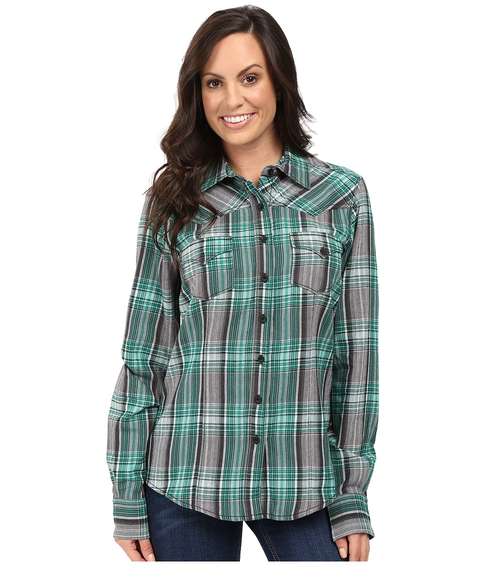 Cruel - Long Sleeve Arena Cotton Brushed Twill (Green) Women's Clothing