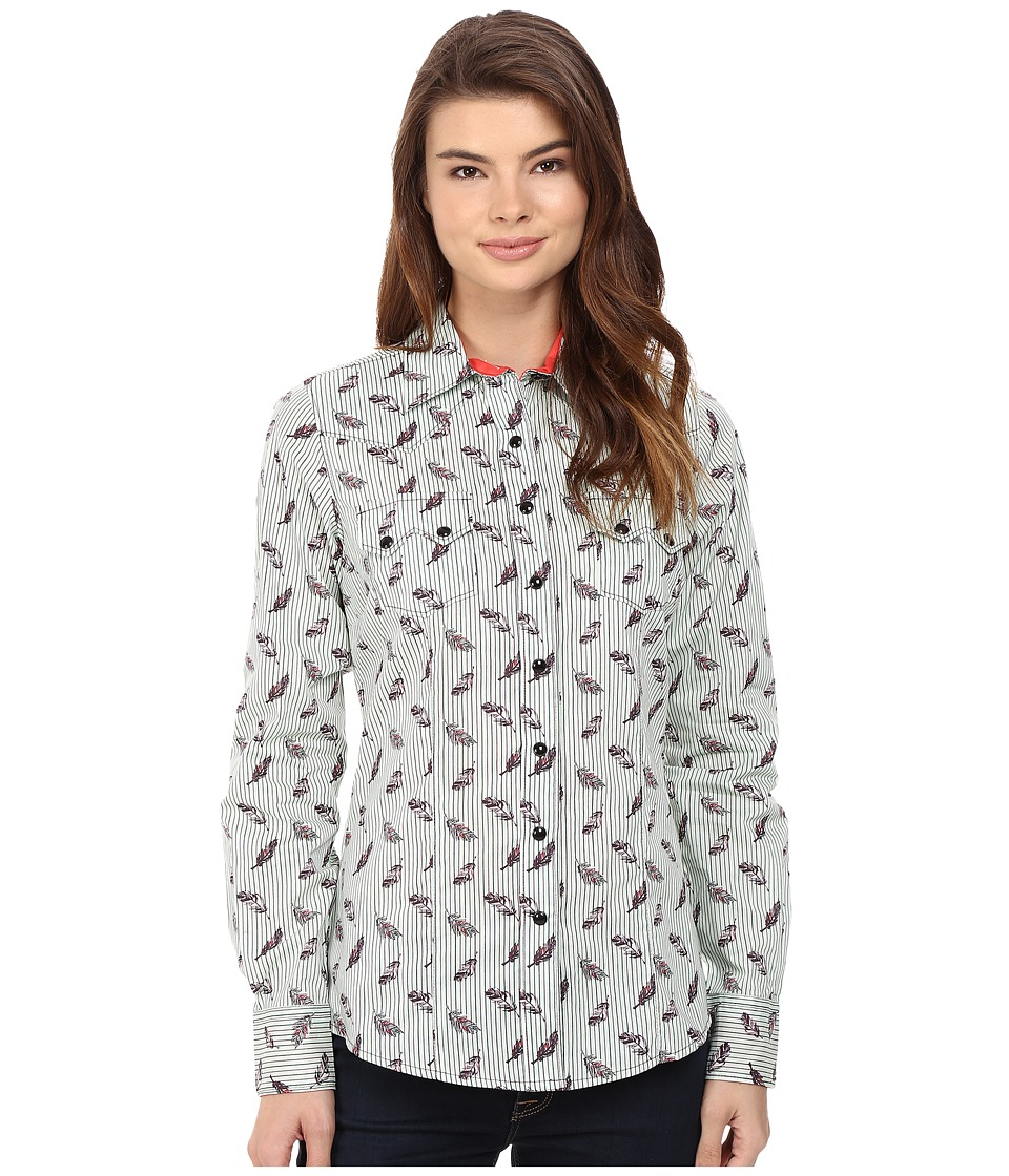 Cruel - Arena Long Sleeve Plain Weave Print (Mint) Women's Clothing