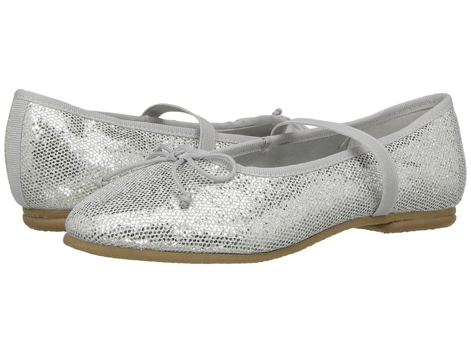 Jumping Jacks Kids Balleto Kayla (Toddler/Little Kid/Big Kid) (Silver Glitter) Girls Shoes