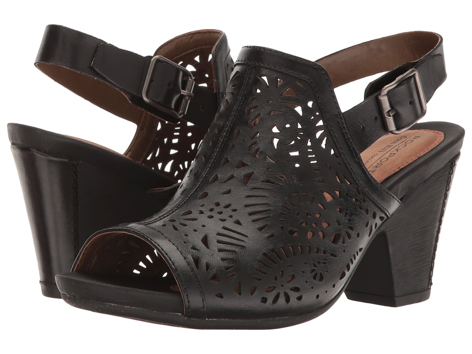 Rockport Cobb Hill Collection - Cobb Hill Tropez High Vamp (Black Leather) Women's Shoes