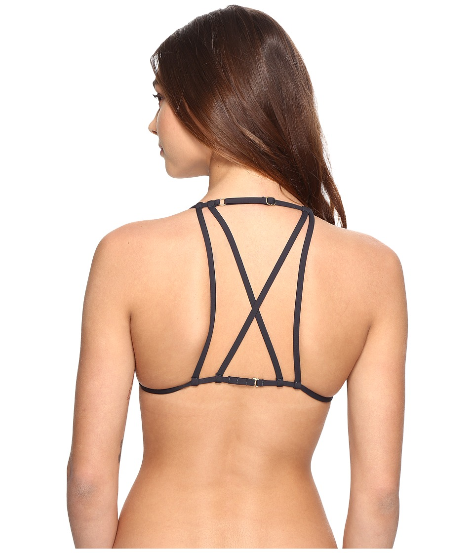 Billabong Sol Searcher Strappy Triangle Bikini Top (Black Sands) Women